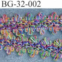 gallon ruban en boucles largeur 32 mm couleur multicolor lumineux très joli prix au mètre
