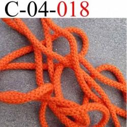 cordon 100 % coton superbe souple  couleur orange diamètre 4 mm prix au  mètre