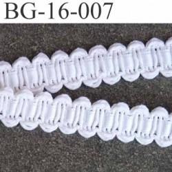 biais galon ruban couleur  blanc et ruban satin intérieur blanc brillant largeur 16 mm  prix au mètre