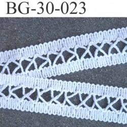 Ruban gallon 100 % coton couleur blanc largeur 30 mm très joli pris au mètre