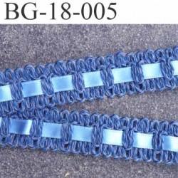 Déstockage 2 ème choix biais galon ruban coton et satin couleur bleu largeur 18 mm arrive  prix au mètre