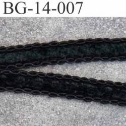 dentelle biais galon velour à bouclettes coton made in france  largeur 14 mm couleur noir prix au mètre
