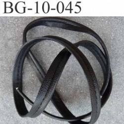 galon biais ruban passe poil façon cuir largeur 10 mm couleur noir avec lien cordon coton 2 mm  prix au mètre