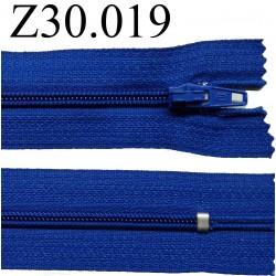 fermeture éclair 30 cm couleur bleu  zip nylon non séparable