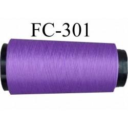 CONE de fil mousse Polyester texturé fil n° 167/1 couleur violet lumineux  longueur de 1000 mètres bobiné en France