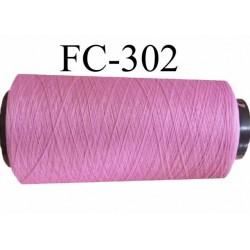 CONE de fil mousse polyamide fil n° 120 couleur rose bonbon ou rose malabar  longueur de 1000 mètres bobiné en France