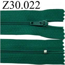 fermeture éclair 30 cm couleur vert  zip nylon non séparable