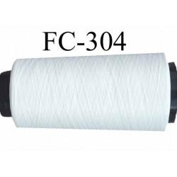 Cone de fil mousse polyamide fil n° 100/2 couleur naturel longueur du cone 1000 mètres bobiné en France