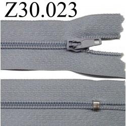 fermeture éclair 30 cm couleur gris  zip nylon non séparable