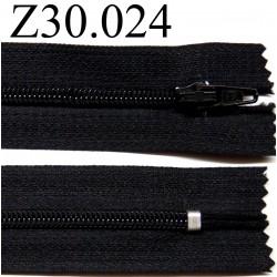 fermeture éclair 30 cm couleur noir  zip nylon non séparable
