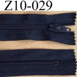 fermeture zip de marque à glissière longueur 10 cm couleur bleu marine non séparable largeur 2.5 cm glissière nylon zip du 4 mm
