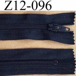 fermeture zip de marque à glissière longueur 12 cm couleur bleu marine non séparable largeur 2.5 cm glissière nylon  zip du 4 mm