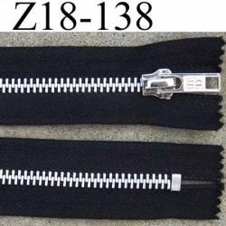 fermeture zip à glissière métal longueur 18 cm couleur noir non séparable zip métal largeur 3 cm largeur glissière 6 mm