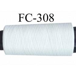 Cone de fil mousse polyester texturé fil fin n° 160 couleur naturel longueur du cone 1000 mètres bobiné en France