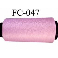 CONE de fil mousse polyamide fil n° 120 couleur rose ou rose malabar  longueur de 2000 mètres bobiné en France