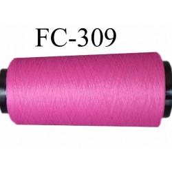 Cone de fil mousse texturé polyester fil n° 120 couleur fushia longueur 1000 mètres bobiné en France