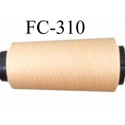 Cone ( Economique ) de fil  polyester  fil n°120 couleur beige sable crème longueur 1000 mètres bobiné en France