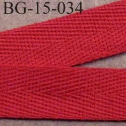 biais sergé 100 % coton superbe  galon ruban couleur rouge largeur 15 mm prix au mètre