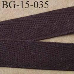 biais sergé 100 % coton superbe  galon ruban couleur marron largeur 15 mm prix au mètre