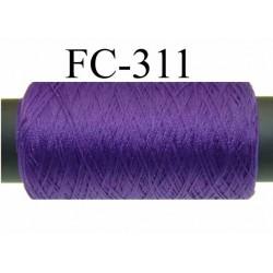 Bobine de fil mousse polyamide fil n° 120 couleur violet  longueur 500 mètres bobiné en France