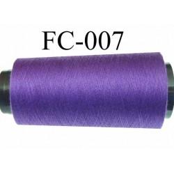 Cone de fil (économique) polyester n° 120 couleur violet  longueur du cone 2000 mètres  bobiné en France