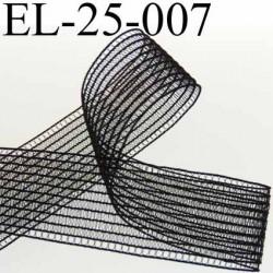 élastique plat fronceur ou à froncer ou à smock largeur 25 mm couleur noir  très belle qualité prix au mètre