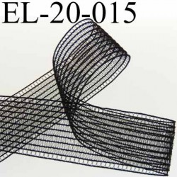 élastique plat fronceur à smock largeur 20 mm couleur noir prix au mètre