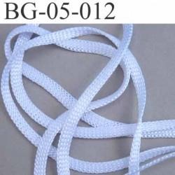 galon cordon ruban a plat largeur 5 mm épaisseur 1.3 mm couleur blanc brillant souple et doux très solide prix au mètre