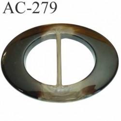 grande boucle ovale pvc couleur marbré superbe longueur 110 mm largeur 80 mm épaisseur 10 mm prix à la pièce