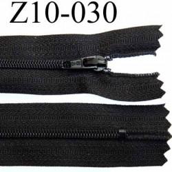 fermeture zip longueur 10 cm couleur noir non séparable largeur 2.8 cm glissière nylon largeur  4 mm