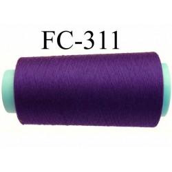 Cone ( Economique ) de fil  polyester  fil n°120 couleur violet foncé longueur 1000 mètres bobiné en France