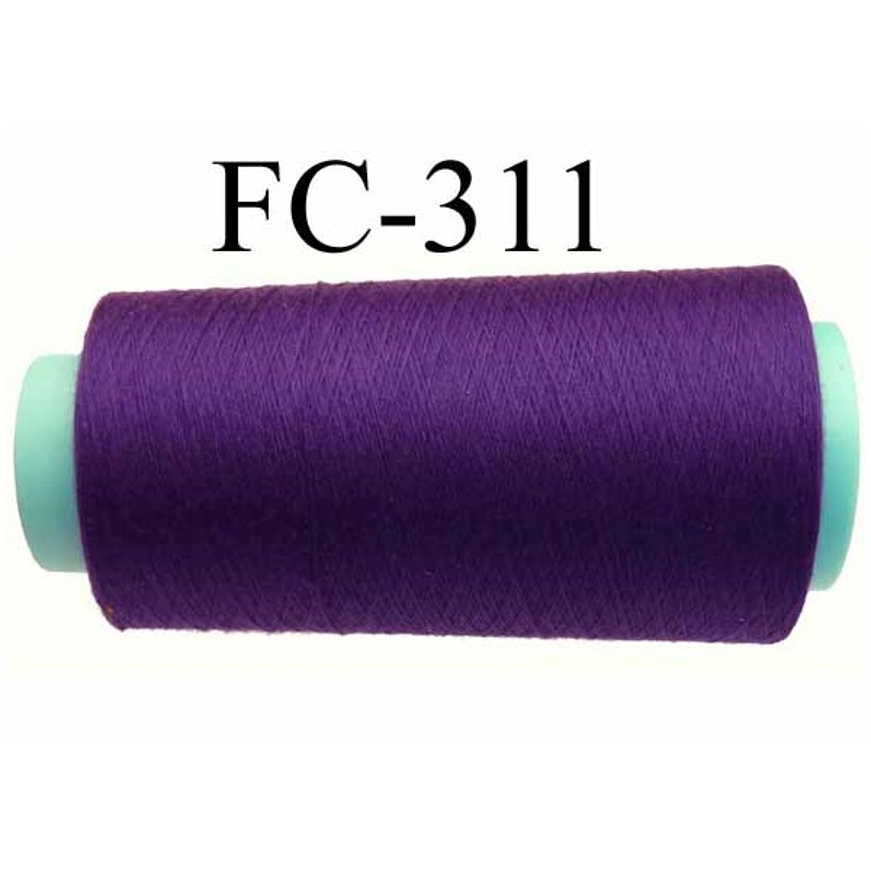 Cone economique de fil polyester fil n 120 couleur - Couleur violet fonce ...