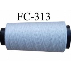 Cone ( Economique ) de fil  polyester  fil n°120 couleur gris clair mastic longueur 5000 mètres bobiné en France