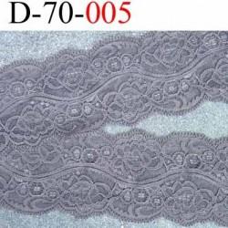 dentelle synthétique couleur taupe vraiment très belle lycra souple et douce style ancien largeur 70 mm prix au mètre