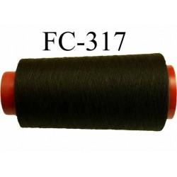 Cone ( Economique ) de fil  polyester  fil n°120 couleur noir longueur 2000 mètres bobiné en France