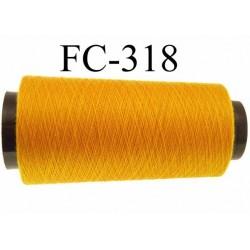 Cone ( Economique ) de fil  polyester  fil n°120 couleur orange longueur 1000 mètres bobiné en France