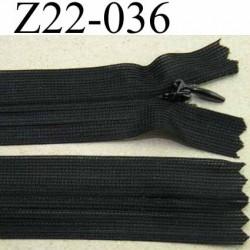 fermeture zip glissière invisible longueur 22 cm couleur noir non séparable largeur 2.5 cm glissière nylon largeur 4 mm
