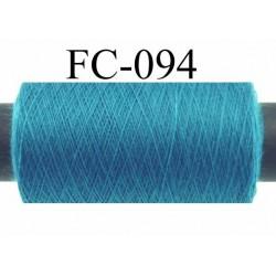 bobine de fil n° 120 polyester couleur bleu longueur 500 mètres bobiné en France