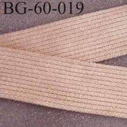 sangle biais ruban a plat coton et syntéthique couleur beige largeur 5 cm épaisseur 2.5 mm  hyper solide prix au mètre