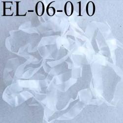 Elastique lastin transparent caoutchouc laminette  largeur 6 mm prix au mètre