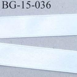galon ruban satin couleur blanc brillant lumineux double face superbe largeur 15 mm prix au mètre