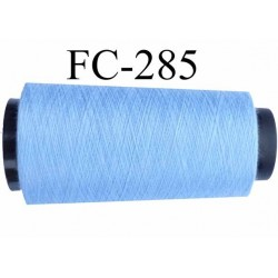 Cone ( Economique ) de fil  polyester  fil n°120 couleur bleu longueur 1000 mètres fabriqué en France fil de très bonne qualité
