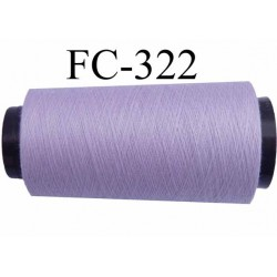 Cone  ( économique ) de fil polyester n° 120 couleur lilas parme longueur 5000 mètres  bobiné en France