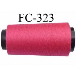 Cone ( économique ) de fil polyester n° 120 couleur framboise fushia longueur 5000 mètres  bobiné en France