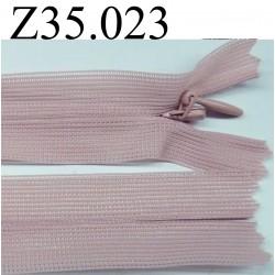 fermeture éclair invisible longueur 35 cm couleur rose non  séparable zip nylon  largeur 2.5 cm