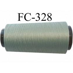 Cone de fil mousse polyamide fil n° 120 couleur vert kaki clair longueur du cone 2000 mètres bobiné en France