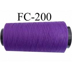 Cone de fil mousse polyamide fil n° 120 couleur violet  longueur du cone 1000 mètres bobiné en France