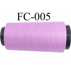 Cone de fil mousse polyamide fil n° 120 couleur violine lilas parme  longueur du cone 2000 mètres bobiné en France