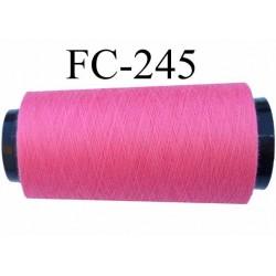 cone de fil polyester fil n°120 couleur rose fushia longueur du cone 1000 mètres fabriqué en France