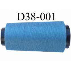 Cone ( en Destockage ) de fil  polyester  fil n° 70/2 couleur bleu longueur du cone 2000 mètres bobiné en France